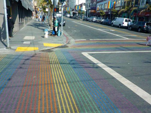 25 Rainbow Crossing at San Fran California